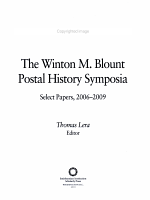 The Winton M  Blount Postal History Symposia PDF