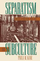 Separatism and Subculture PDF