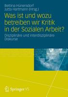 Was ist und wozu betreiben wir Kritik in der Sozialen Arbeit  PDF