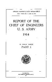 Report of the Chief of Engineers U.S. Army: Part 3