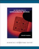 An Introduction to Semiconductor Devices PDF