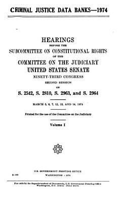 Criminal Justice Data Banks  1974