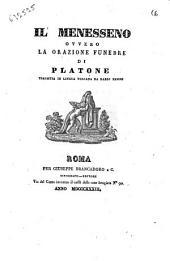 Il Menesseno, ovvero La orazione funebre di Platone