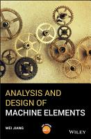 Analysis and Design of Machine Elements PDF