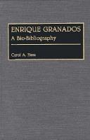 Enrique Granados  A Bio Bibliography PDF
