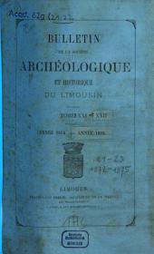Bulletin de la Société Archéologique et Historique du Limousin: Volume21