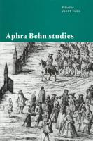 Aphra Behn Studies PDF