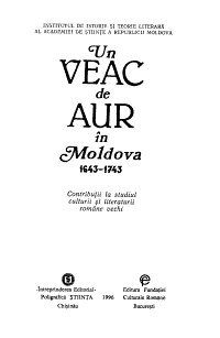 Un veac de aur   n Moldova  1643 1743 PDF