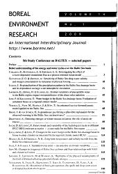 Boreal Environment Research
