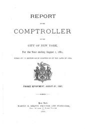 Report of the Comptroller of the City of New York, for the Year Ending ...