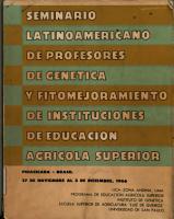Semiario Latinoamericano de Profesores de Genetica Y Fitomejoramiento de Instituciones de Educacion Agricola Superior PDF