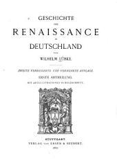 Geschichte der renaissance in Deutschland: Teil 1
