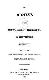 The works of the Rev. John Wesley: Volume 6