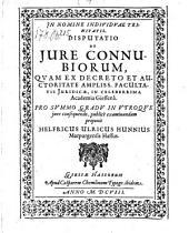 Disputatio de jure connubiorum (etc.)