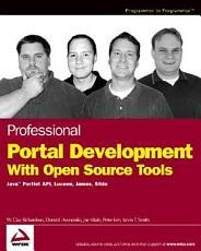 Professional Portal Development with Open Source Tools PDF