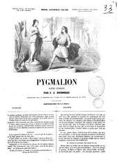 Pygmalion scène lyrique par J. J. Rousseau