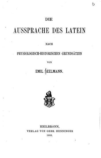 Die aussprache des latein PDF