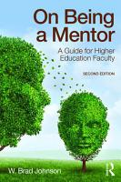 On Being a Mentor PDF