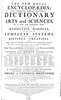 THE NEW ROYAL ENCYCLOPAEDIA  OR  COMPLETE MODERN UNIVERSAL DICTIONARY OF ARTS   SCIENCES  ON A NEW AND IMPROVED PLAN PDF
