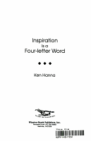 Inspiration Is a Four Letter Word PDF