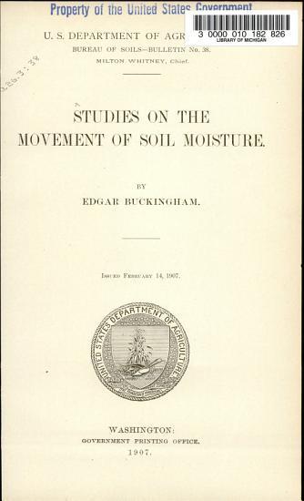 Bulletin   United States  Bureau of Soils PDF