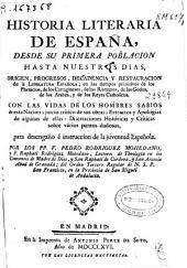 Historia literaria de España: desde su primera poblacion hasta nuestros dias ...
