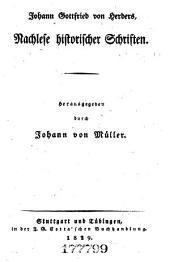 Johann Gottfried von Herder's sämmtliche Werke ...: Die Vorwelt