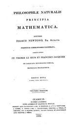 Philosophiæ naturalis principia mathematica: Volume 3