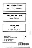 CALL AFTER MIDNIGHT  HANG THE LITTLE MAN  ONE MAN JURY PDF