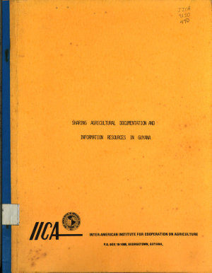 sharing agicultural documentation and information resources in Guyana PDF