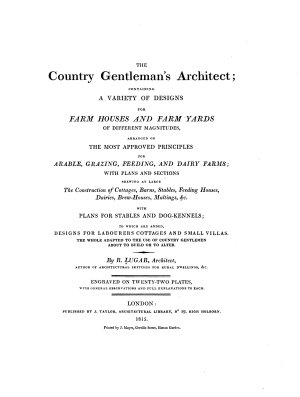 The Country Gentleman s Architect PDF