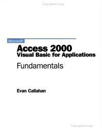 Microsoft Access 2000 Visual Basic for Applications PDF