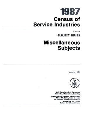 1987 Census of Service Industries PDF