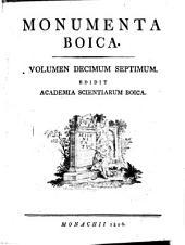 Monumenta Boica: Band 17