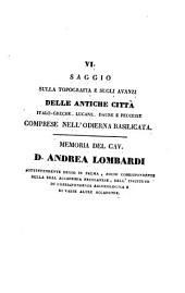 Memorie dell'Instituto di Corrispondenza Archeologica: Volume 1,Parte 3