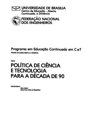 Politica De Ciencia E Tecnologia Para A Decada De 90
