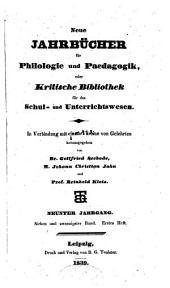 Neue Jahrbücher für Philologie und Paedagogik: Band 27