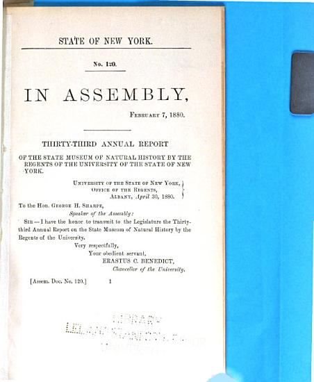 Annual Report on the New York State Museum of Natural History PDF