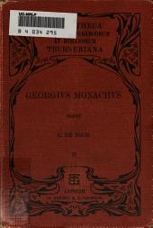 Georgii monachi chronicon edidit Carolus de Boor: Inde a Vespasiani imperium