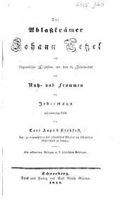 Der Ablasskrämer Johann Tetzel, eine biographische Erzählung aus dem 16. Jahrhundert, etc