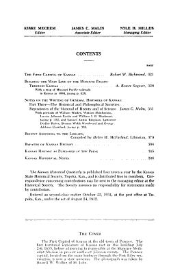 The Kansas Historical Quarterly PDF