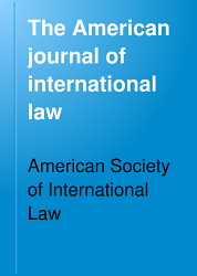 The American Journal Of International Law Book PDF