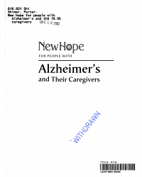 New Hope for People with Alzheimer s and Their Caregivers PDF