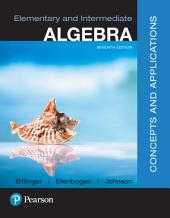 Elementary and Intermediate Algebra: Concepts & Applications, Edition 7