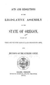 Laws of the State of Oregon