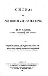 China: Its Past History and Future Hopes