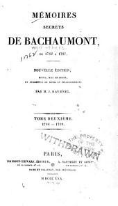 Mémoires secrets de Bachaumont de 1762 à 1787: Volume2