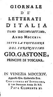 Giornale de'letterati d'Italia: Volume 17