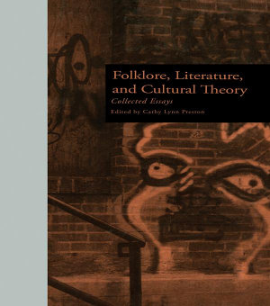 Folklore  Literature  and Cultural Theory PDF