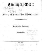 Intelligenzblatt des Rheinkreises: Band 13